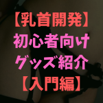 【チクニー】乳首開発の初心者にオススメするグッズを考察!【入門編】